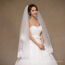 Nuevo velo corto de novia de la boda con lentejuelas