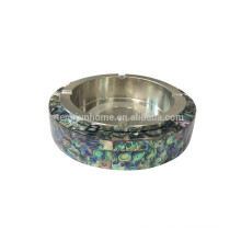 Smoking accessories stainless steel ashtray made from paua shell