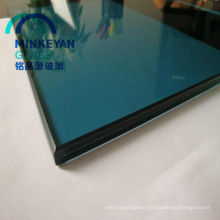 Low Price station hall blue curtain wall laminated glass size