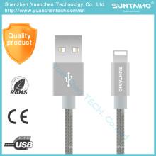 Nuevo cable de datos USB de carga rápida de nilón 8pin para iPhone