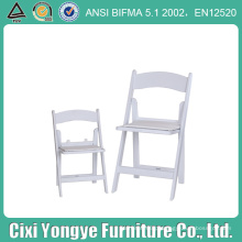 Cadeira de dobradura acolchoada branca da resina do casamento para o banquete