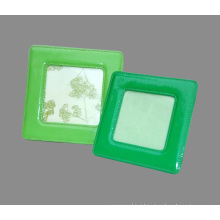 """Green PU Leather Square Photo Frames for 4 X4"""" Picture"""