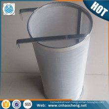 """Wholesale home brew 304 stainless steel 6""""*14"""" 4""""*10"""" 300 micron hop filter basket/hop spider"""