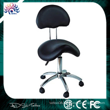 Professional Tattoo chair Padded Saddle Stool With Back for tattoo studio