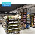Ouyee Shelves Metal Wooden Fruits And Vegetables Gondola Shelving Wood Display Rack Shelf For Supermarket Shelf For Supermarket