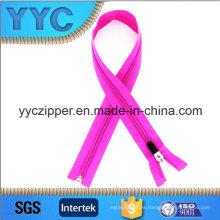 5 # Light Purple Nylon largo cremallera para la ropa de deporte