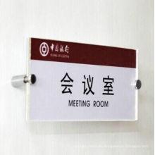 Personalizar sesión de oficina de la sala de reuniones o titular Signo de número de plástico acrílico