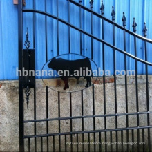 hot sale aluminum fence / steel fence gate with animal