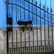 горячая распродажа алюминиевый забор / сталь забор ворота с животным
