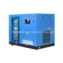 Compresor de aire de tornillo estacionario de lubricación controlada por inversor (KE110-08INV)