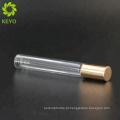 Rolo de redemoinho de garrafa de vidro em garrafas de rolo branco recipientes de 10ml de óleo essencial para rolo de perfume