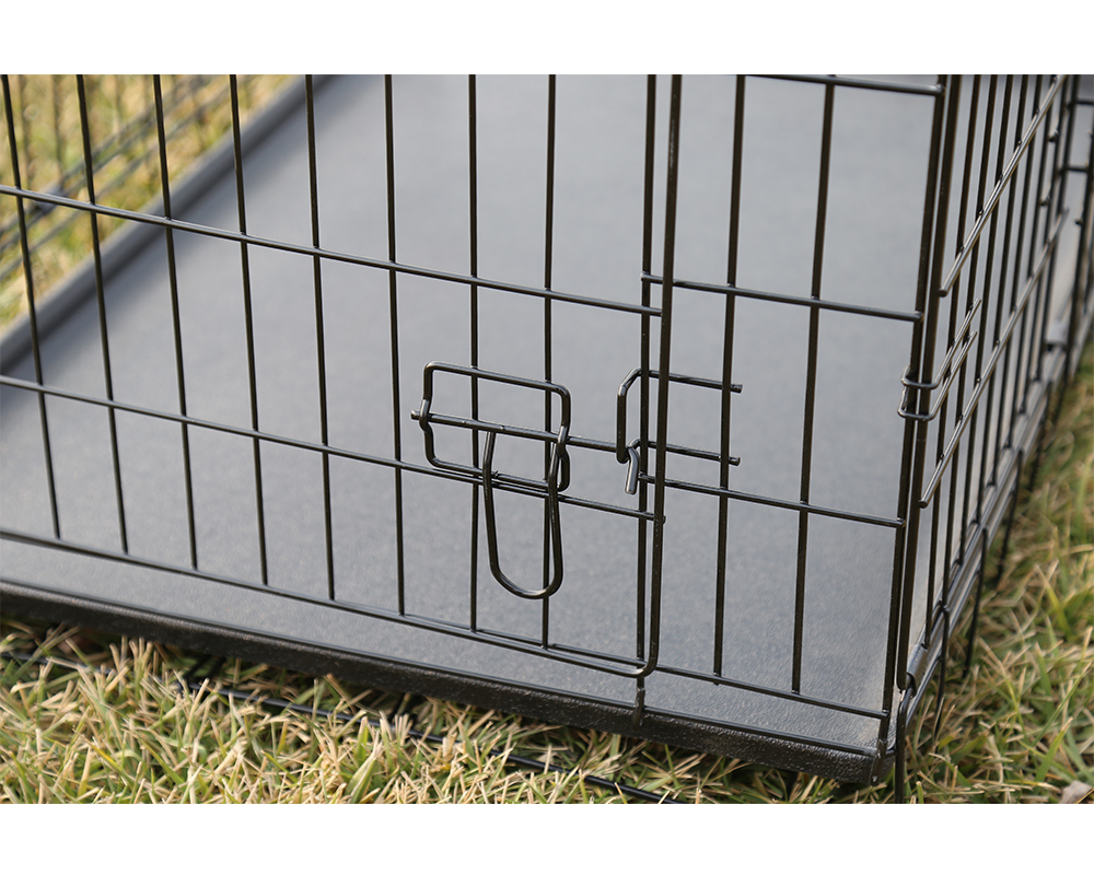 Folding Black Pet Dog Cage
