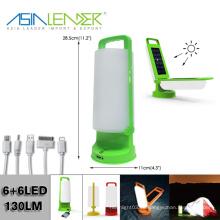 Con el interfaz de 4 USB para la diversa carga del teléfono y el panel solar 2 Carga rápida que acampa la luz