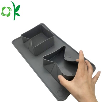 Silicone Folding Double Bowl Travel Pet Bowl Portable
