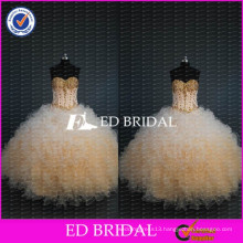 ED Bridal New Collection Sweetheart Beaded Bodice Ball Gown Organza Quinceanera Dresses