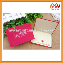 Cartões únicos de convite de casamento de cartões tradicionais chineses, comprar no mercado da China