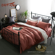 Welcomed Christmas color egyptian cotton luxury bedding sets satin pillow case cover