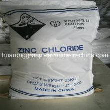 Chlorure de zinc Classe industrielle et batterie No CAS: 7646-85-7