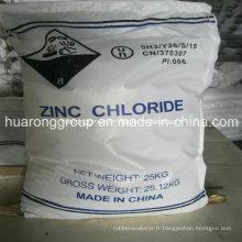 Zinc chlorure de qualité industrielle & batterie de Grade no CAS: 7646-85-7