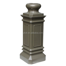 china foundry supply good quality oem cast aluminum street lamppost base by sand casting