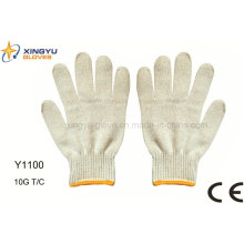 10g guante de trabajo de seguridad T / C (Y1100)