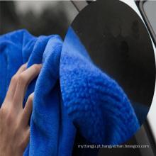 Toalha de microfibra personalizada de limpeza de sujeira barato carro limpo