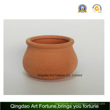Exterior-Natural Candle Holder - arcilla de cerámica Pot Bulge Shape