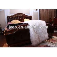 En gros haute qualité tibétain mongol moutons plaques de fourrure bouclés peau