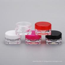 Bouteille de cosmétiques 3G pour crème pour les yeux Nail Square Cream Jar
