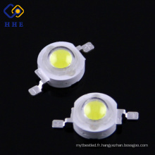 Ampoule menée par puissance élevée blanche de la puce 1w de la grande puissance 95Ra Epistar 1w pour le réverbère