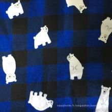 100% coton flanelle imprimé pour pyjamas