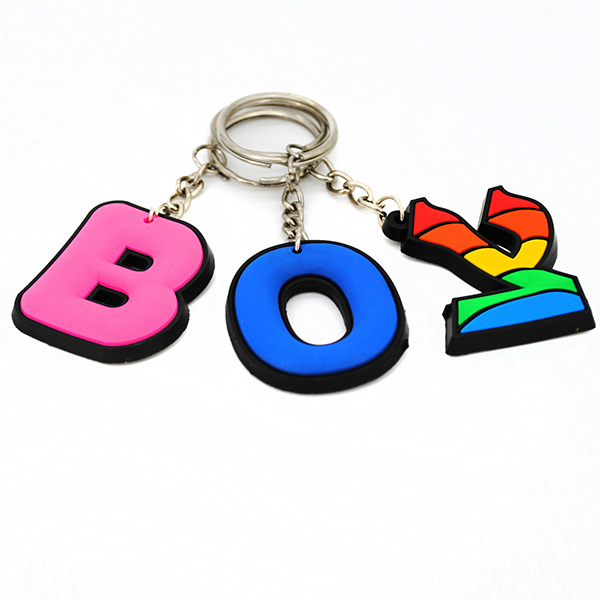 Multi Color Rubber Keychain
