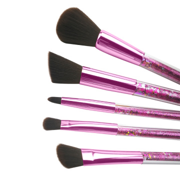 Ensemble de pinceau de maquillage paillettes 5pc