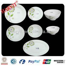 Household Item Houseware Synthetic White Raw Opals Stone Rough Glass Dinnerware Dishes Plates