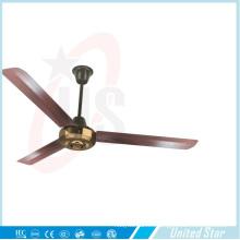 Ventilador de techo de metal cromado Unitedstar de 56 ''