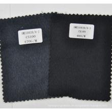 100% Kaschmir Stoff dunkelgrau und schwarz aus China-Fabrik