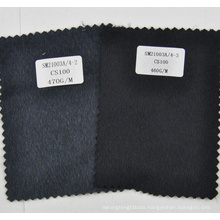 100% cashmere fabric dark grey and black from china factory