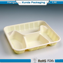 Plateau de service alimentaire solide pour hôpitaux en plastique