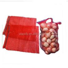 HDPE raschel bag of food packaging PE fruit raschel knitted bags raschel mesh bags for sale