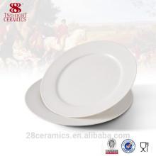 Gros ware blanc amical de dîner, plaque de porcelaine pas cher