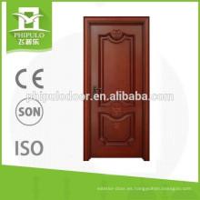 FPL-W2037 Nuevo diseño barato precio interior puerta madera