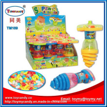 Plastic Flash Spinning Top Toy Candy