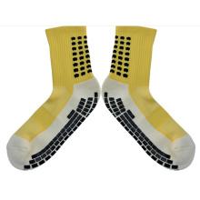 New Fashion Cotton Grid Style Team Sports Football Socks Anti Slip Soccer Socks