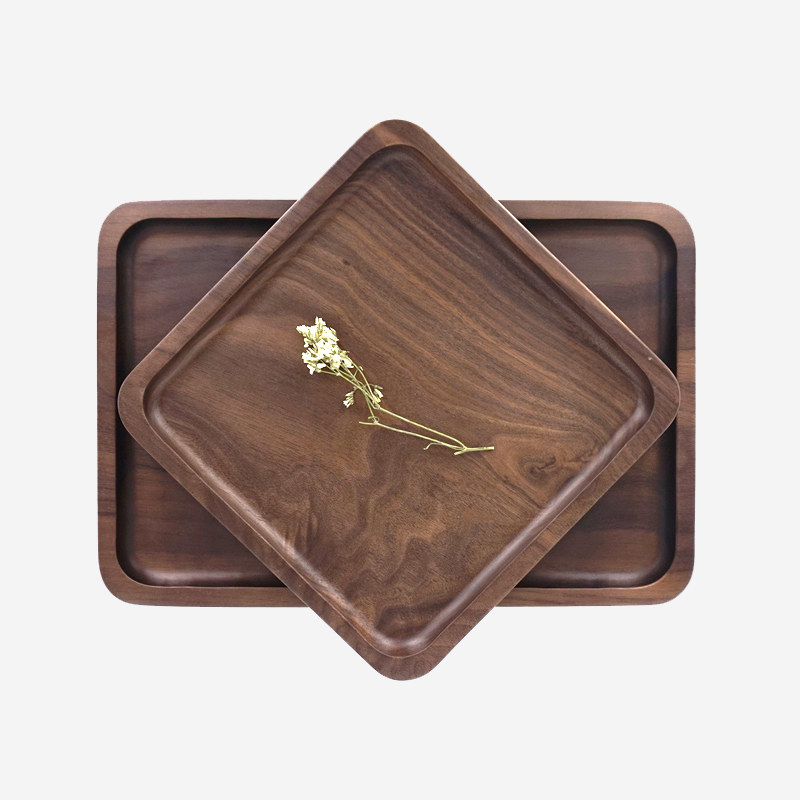 rectangle black walnut wooden tray