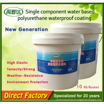 Matériel imperméable de polyuréthane de membrane liquide d'unité centrale d'unité simple