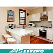 Meubles d'armoires de cuisine en laque en U avec poignée (AIS-K344)
