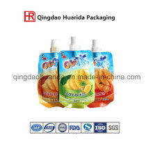 Laminated Plastic Shaped Bag for Jelly Package with Spout