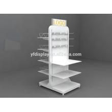 hochwertige weiße Farbe Holzschuh Display Rack