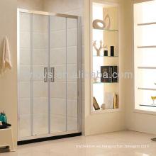 puertas de ducha de vidrio correderas dobles hechas en China