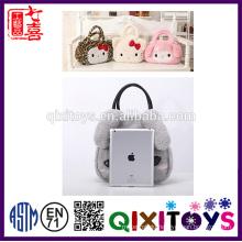 Cute Plush Packing Bag Rabbit Shopping Cart Bag Plush Bag for Woman